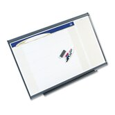 "Prestige Total Erase Monthly Calendar in Gray with Aluminum Frame 48"" W x 36"" H"
