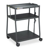 Wide Body AV Cart in Black