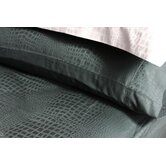 Caiman Pillow Case Set in Jet Set Black