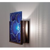 FN1 Wall Sconce with Textured Cast Glass Panel and Partial Side Diffuser