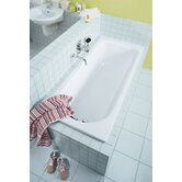 "Saniform Plus 69"" x 29.5"" Bath Tub in White"