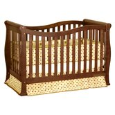 Athena Nadia Convertible Crib with Toddler Rail in Espresso