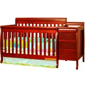 Athena Kimberly Convertible Crib Combo with Toddler Rail