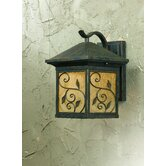 One Light Outdoor Large Wall Lantern in Weathered Bronze