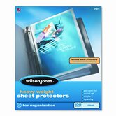 Wilson Jones Heavy Weight Sheet Protector, 50/Box