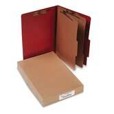 Pressboard 25-Pt. Classification Folder, Legal, 6 Section, 10/Box