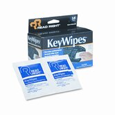 KeyWipes Keyboard &amp; Hand Cleaner Wet Wipes, 5 x 6 7/8, 18/bx