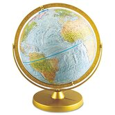 Physical and Political 12-Inch Globe, Metal Desktop Base