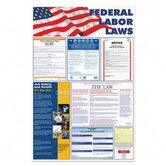 "Federal Labor Law Poster, 24""x36"", Red/Blue/Black"