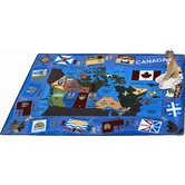 Educational Flags of Canada Kids Rug