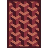 Whimsy Family Legacies Rooftop Burgundy Rug