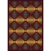 Whimsy Canyon Ridge Mesa Sunset Kids Rug