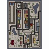 Just for Kids Tiny Town Pewter Kids Rug