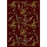 Whimsy Virtuouso Burgundy Kids Rug