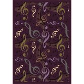 Whimsy Virtuouso Plum Kids Rug