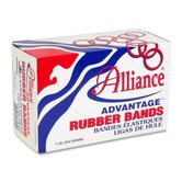 Rubber Bands, Size 33, 1 lb., 3-1/2&quot;x1/8&quot;, Natural