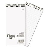 Reporter Spiral Notebook, Gregg Rule, 4 x 8, White, 70 Sheets