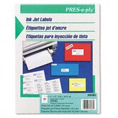 Pres-A-Ply 20-Up Address Inkjet Labels, 4 x 1, White, 2000/Box