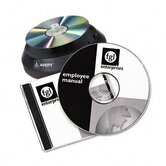 CD/DVD Design Kit, 40 Matte Labels & 10 Inserts for Laser Printer