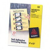 Clear Self-Adhesive Laminating Sheets, 3mm, 9 x 12, 10 per Pack