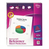 Top-Load Poly Sheet Protectors, Heavy Gauge, Letter, Non-Glare, 50/box