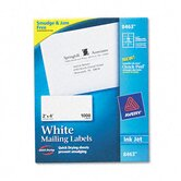 White Ink Jet Mailing Labels, 2 x 4, 1000/Box