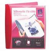 "Silhouette Flexible Poly View Binder, 1"" Capacity, Red"
