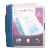 "Silhouette Poly View Binder with Inside Pocket, 1"" Capacity, Light Blue"