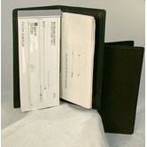 Checkbook Cover in Black