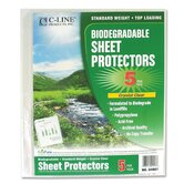 "Sheet Protector, Biodegradable, 8-1/2""x11"", 24 per Pack, Clear"