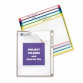 Project Folders, Colored, 11&quot;x8-1/2&quot;, 25 per Box, Assorted