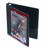 Recycled Clearvue EasyOpen Vinyl D-Ring Presentation Binder, 1in, Black