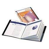 Showfile Display Book with Custom Cover Pocket, 24 Letter-Size Sleeves
