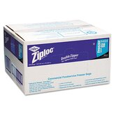 Ziploc Double Zipper Freezer Bags, Plastic, 1gal, 2.7ml, Clear with Label Panel, 250