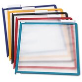 InstaView Desk Reference System Replacement Panels, Letter, Assorted, 5/Set