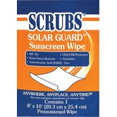 Solar Guard� Sunscreen Towels - scrubs sunscreen towel 1/packet