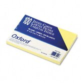 Oxford Unruled Index Cards, 5 X 8, 100/Pack