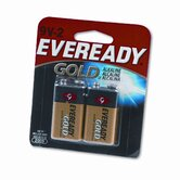 Gold Alkaline Batteries, 9V, 2/pack