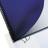 Leather Look Binding System Covers, 8 3/4 x 11 1/4, Navy, 100 Sets per Box