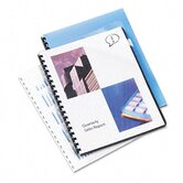 Clear View Presentation Binding System Cover, 8 3/4 x 11 1/4, Clear, 25 per Pack