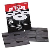 Vaultz Two-Sided CD Refill Pages for Three-Ring Binders, 25 per Pack