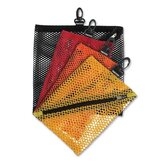 Mesh Storage Bags, w/ Zipper and Clip, 4 per Pack, Assorted