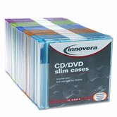 CD/DVD Polystyrene Thin Line Storage Case, 50/Pack