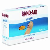 Band-Aid Sheer Adhesive Bandage, 100/Box