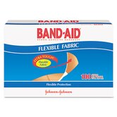 Band-Aid Flexible Fabric Premium Adhesive Bandages, 100/Box