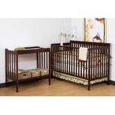 Milan Crib & Changer Combo in Cherry
