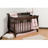 Carrara 4 in 1 Fixed Side Convertible Crib in Espresso
