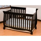 Carrara Fixed Side Convertible Crib in Black