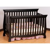 Venetian 4 in 1 Fixed Side Convertible Crib in Black