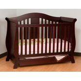 Vittoria 3 in 1 Fixed Side Convertible Crib in Cherry